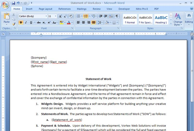 Create a Statement of Work Contract from Salesforce | WebMerge