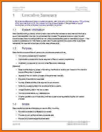 executive summary template microsoft word - Template