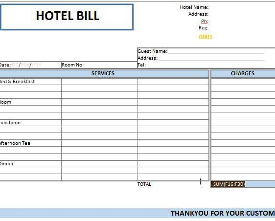 Download Hotel Bill Format in Ms Word | rabitah.net