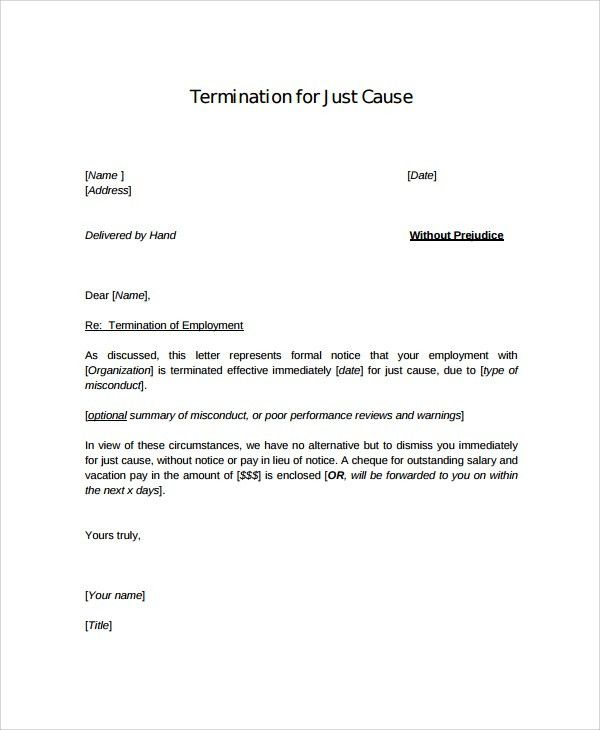 letter of termination sample termination letter samples template ...