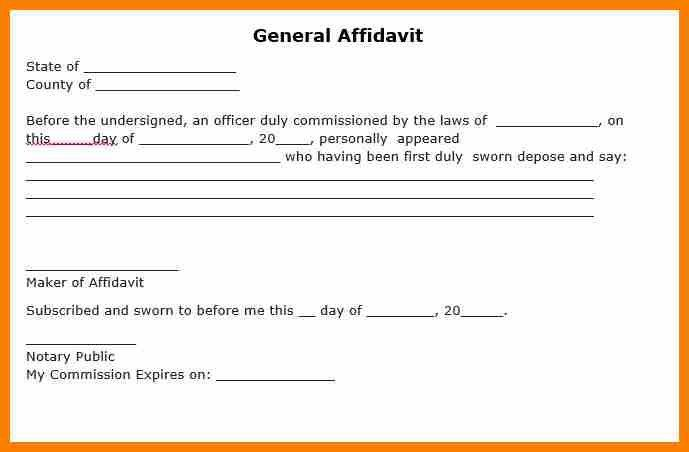 Sworn Statement Template. Sworn Statement Letter Of Commitment ...