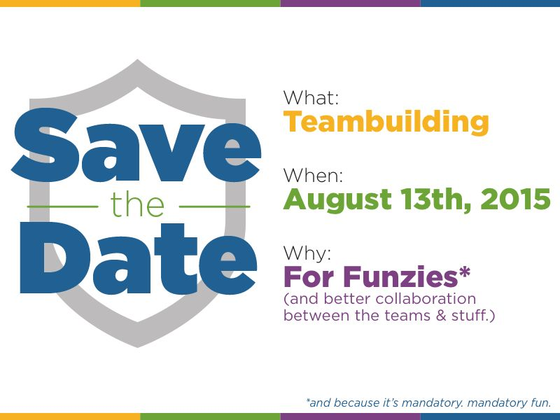 Save the Date Card for Teambuilding Event by Jess Zak - Dribbble
