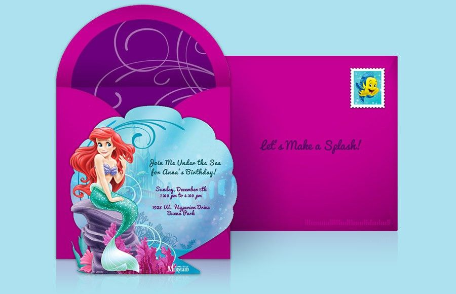 Little Mermaid Invitation Template | futureclim.info