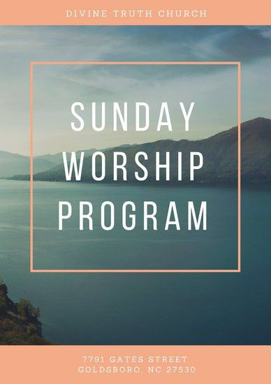 Church Program Templates - Canva