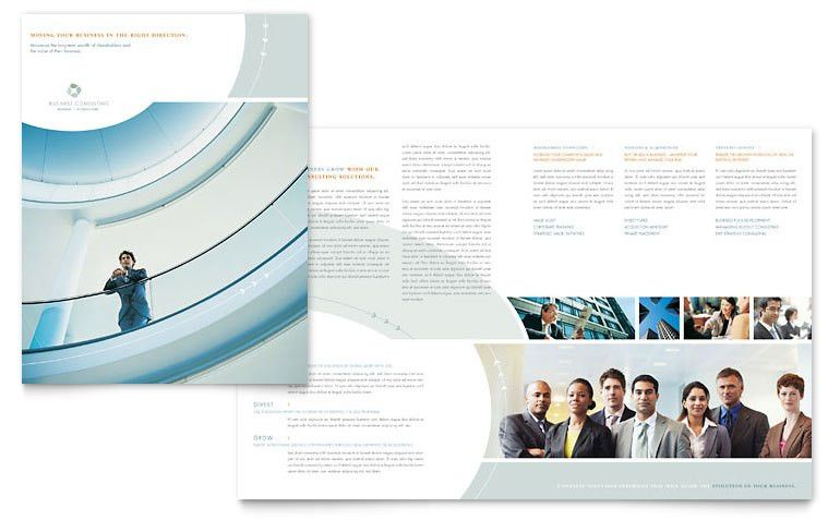 Business Consulting Brochure Template Design | Print Collateral ...