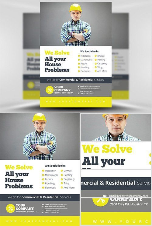Flyer Template Handyman v2 | Handyman | Pinterest | Flyer template