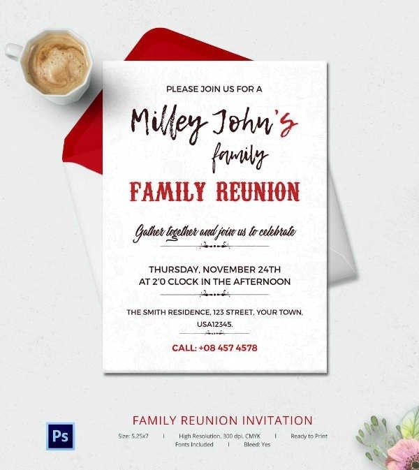 Family Reunion Invitation Cards, colorful reunion invitation with ...