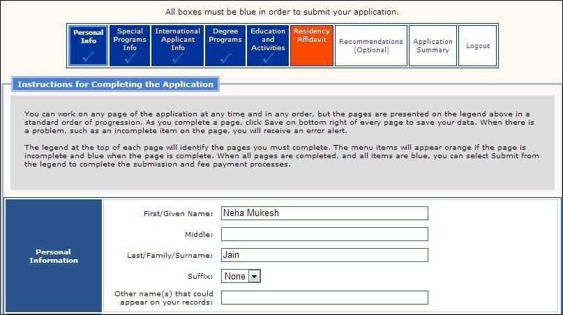 SAMPLE GRADUATE APPLICATION FORM OF UNIVERSITY OF FLORIDA, SAMPLE ...