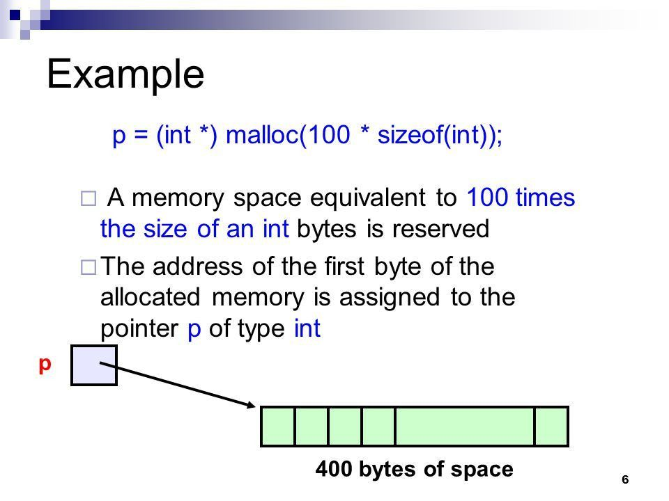 Dynamic Memory Allocation - ppt download
