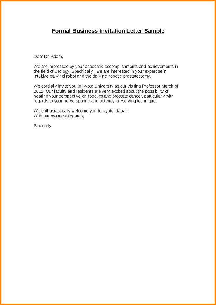 8+ formal invitation letter | memo templates