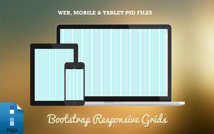 Responsive Bootstrap Grid PSD Templates (Web, Tablet & Mobile ...