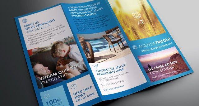 Agentia Tri Fold Brochure Template | Brochure Templates | Pixeden