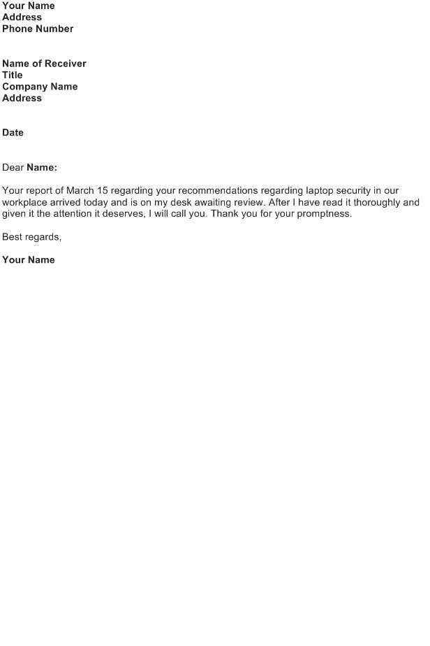 Acknowledgement Letter Sample - Download FREE Business Letter ...