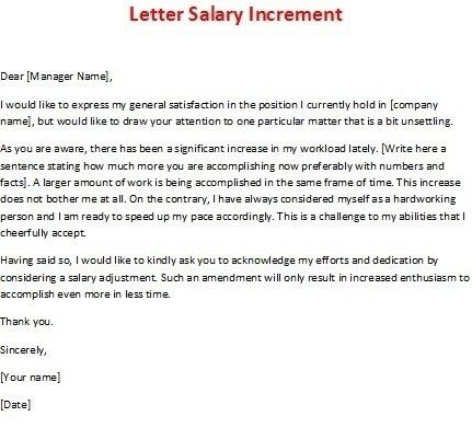 Salary Adjustment Letter | The Letter Sample