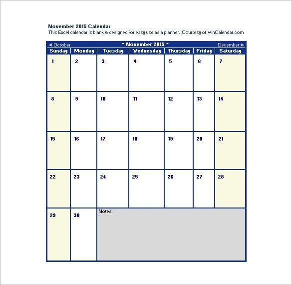 Excel Calendar Schedule Template – 15+ Free Word, Excel, PDF ...