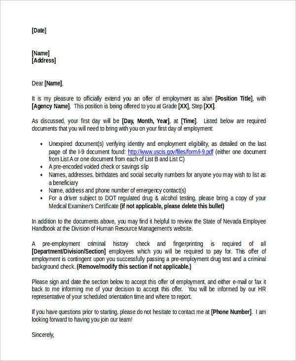 7+ Service Offer Letter Template - 7+ Free Word, PDF Format ...