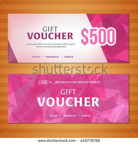 Gift Voucher Template Collection Gift Certificate Stock Vector ...
