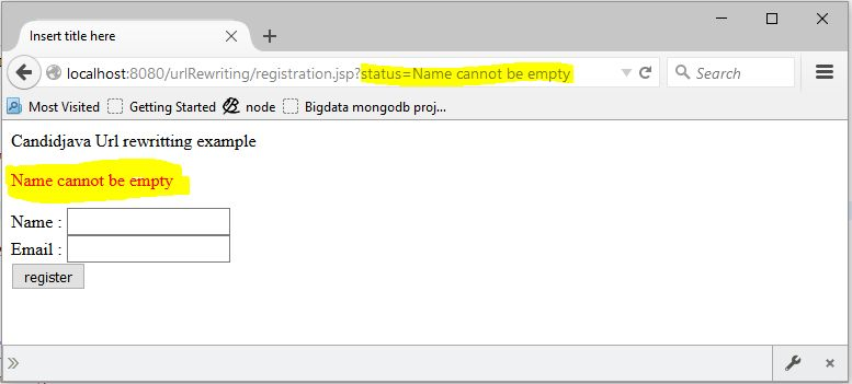 Explain Url rewriting using Servlet and JSP with example?