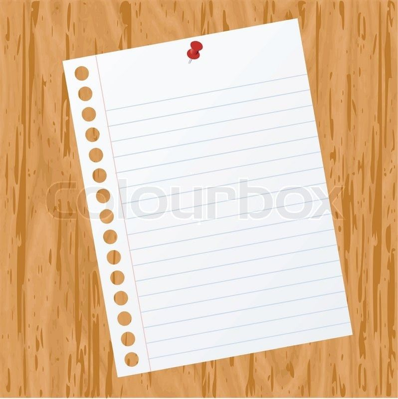Blank paper on wood background for text | Stock Vector | Colourbox