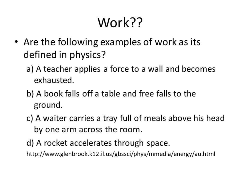 Work and Energy Chapter ppt download