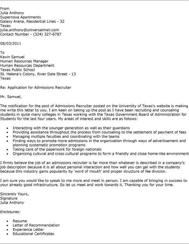 recruiter cover letter recruiter cover letter for for cover letter ...