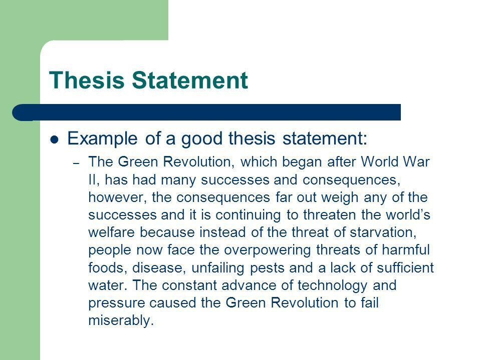 Writing the DBQ: Thesis Statement - ppt video online download