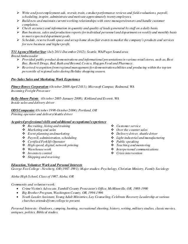 industrial sales resume