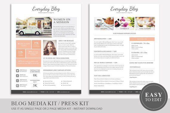 Media Kit Template 08 2 Page Media Kit Template Ad Rate