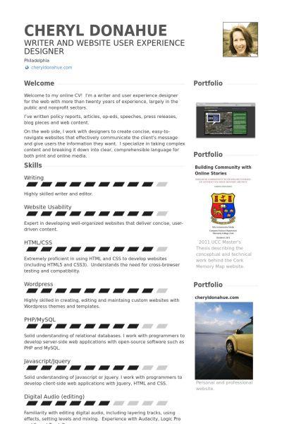 Self Resume samples - VisualCV resume samples database