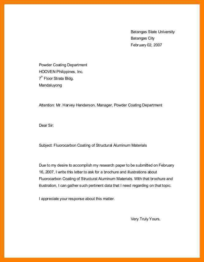 Inquiry cover letter template || How to write a ulogy