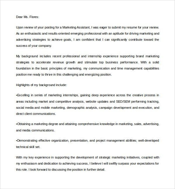 digital marketing cover letter - Template