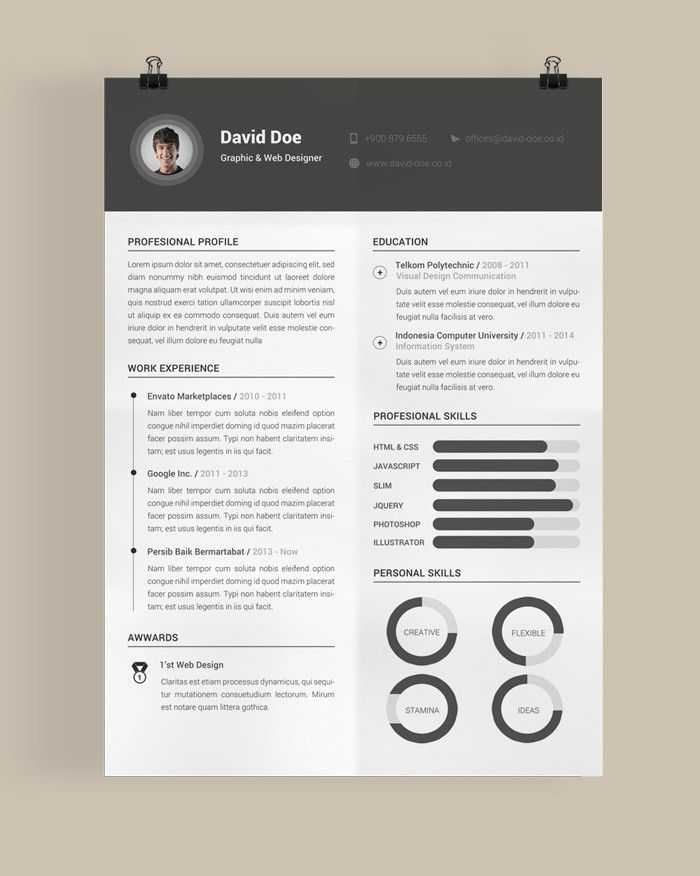 Very Attractive Design Eye Catching Resume Templates 12 30 Free ...