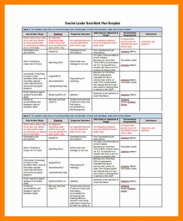 project work plan template