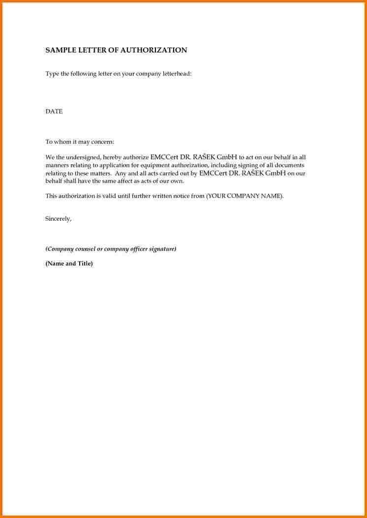 Passport Authorization Letter. Passport Authorization Letter Free ...