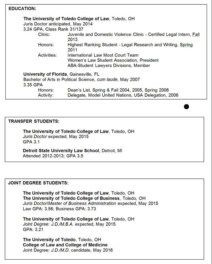 College Activities Resume - Best Resume Collection