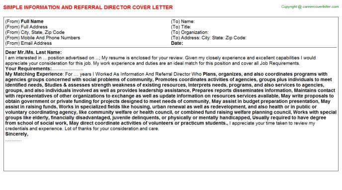Medical Information Specialist Cover Letters