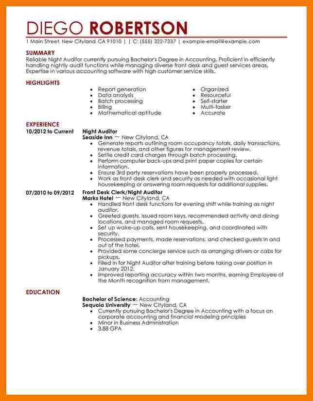 8+ auditor resume examples | mailroom clerk