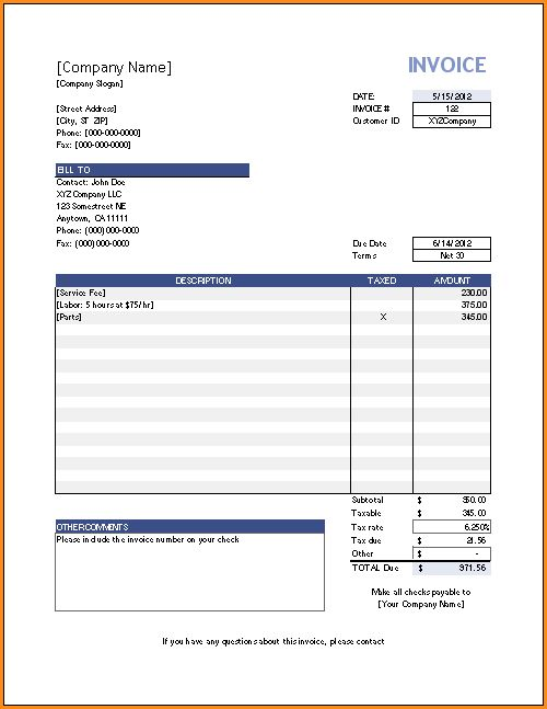 10+ simple invoice template | Invoice Template Download