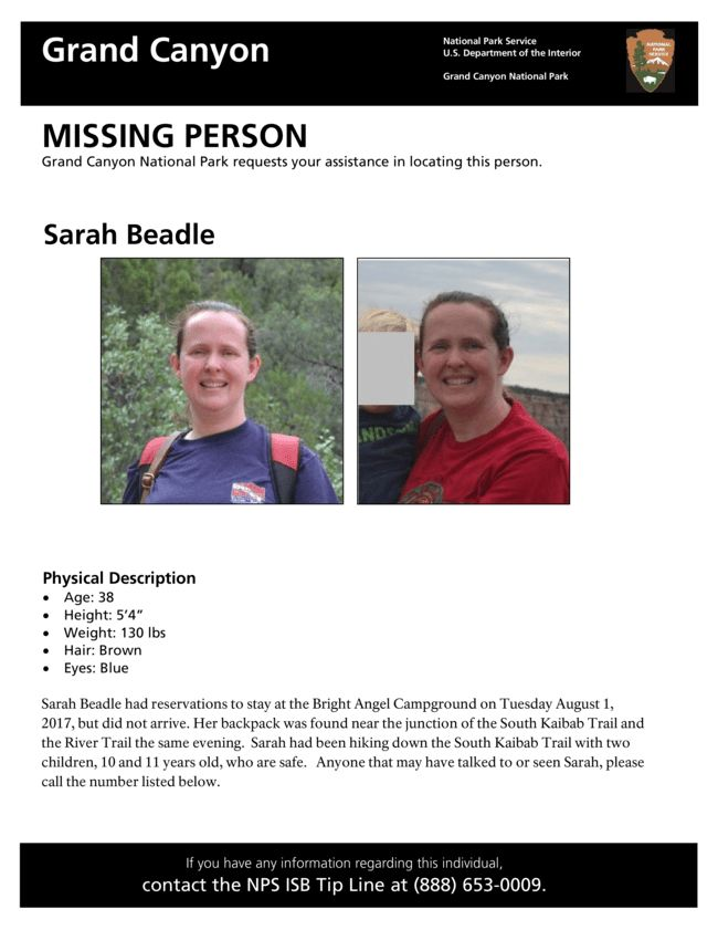Missing Person Search at Grand Canyon National Park - Grand Canyon ...