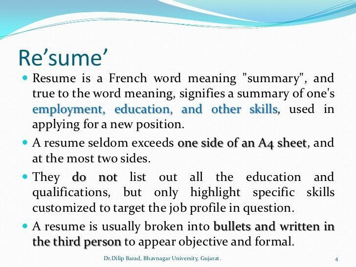 Cool Definition Of Resume For A Job 12 For Cover Letter For Resume ...