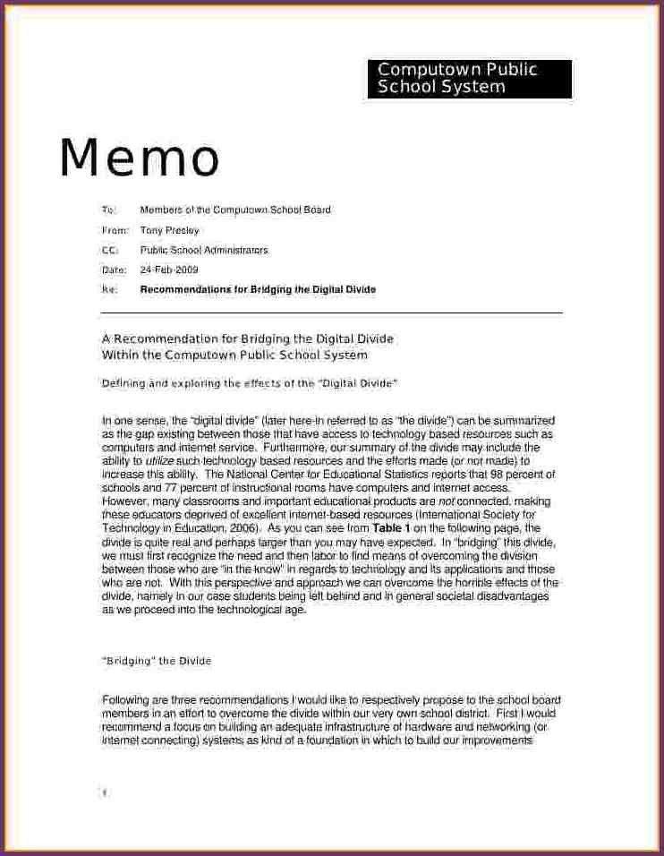 EXAMPLE OF A MEMO | cvsampleform.com