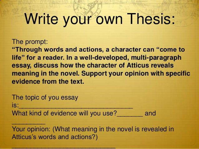 Term paper thesis statement examples