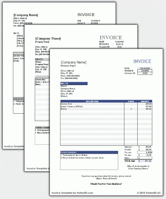 Free Blank Bill Invoices | Free Invoice Template « Free Software ...