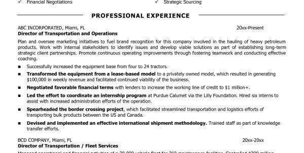 Transportation Engineering Resume Transportation Resume Template ...