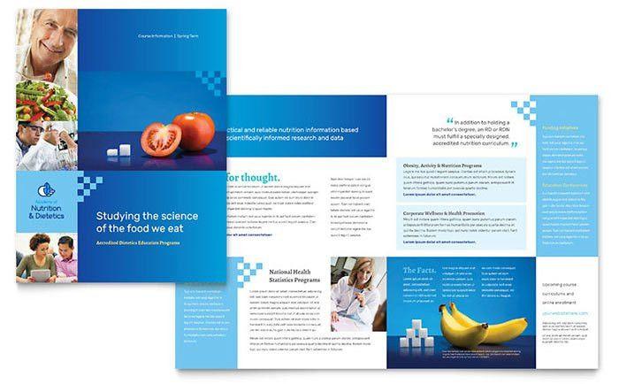 Dietitian Brochure Template Design