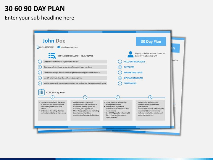 28+ 30 60 90 Day Plan Powerpoint Template | 30 60 90 Day Plan ...