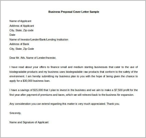 how to write a proposal cover letter business proposal cover ...