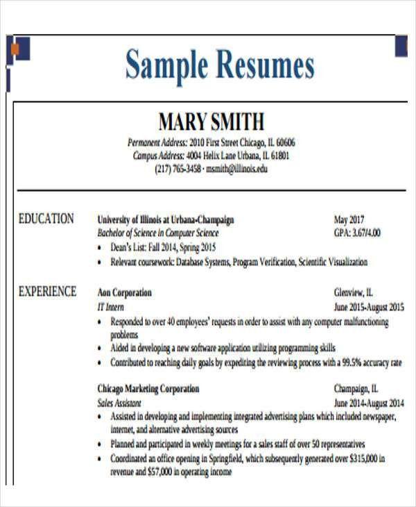 40+ Free Business Resume | Free & Premium Templates