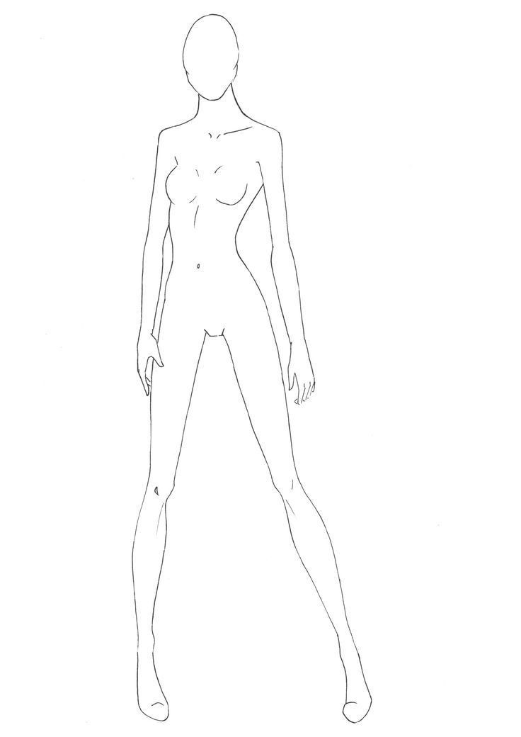 Figure Template 21 outline | Sketching | Pinterest | Fashion ...