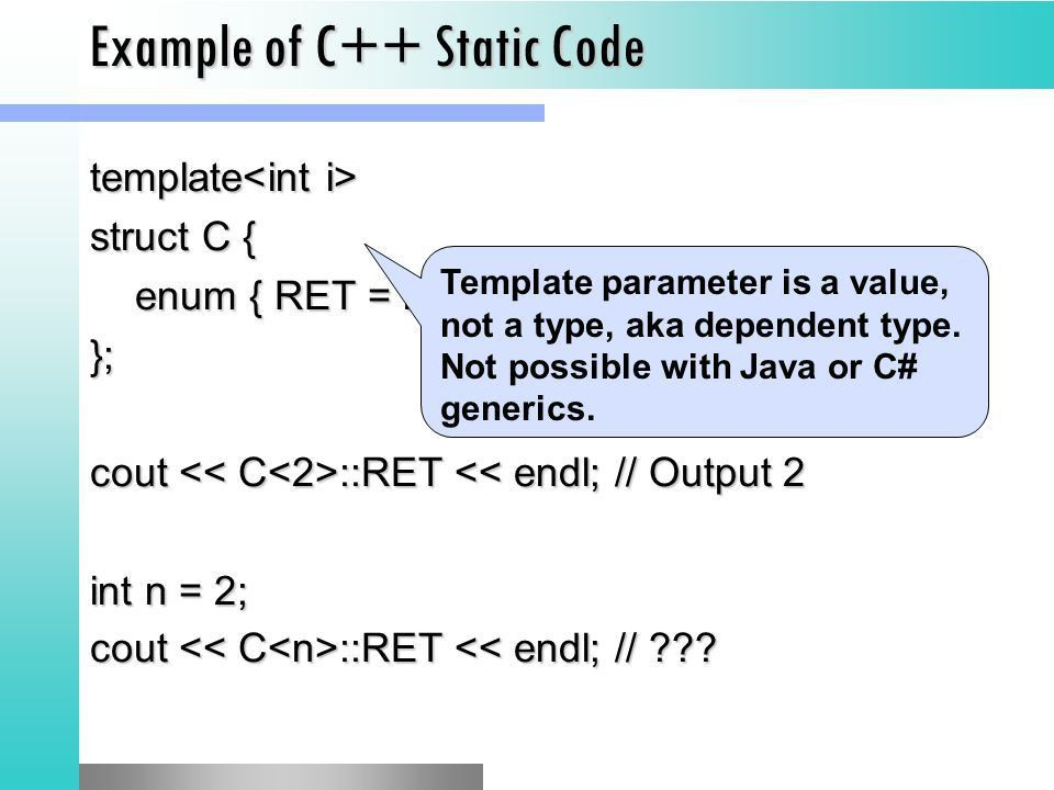 Template Metaprogramming in C++ Giuseppe Attardi and Haoyuan Li ...